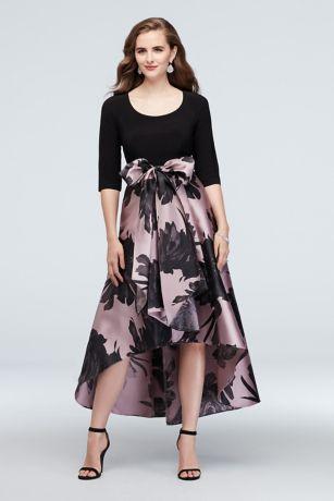 High Low Ballgown 3/4 Sleeves Dress - RM Richards