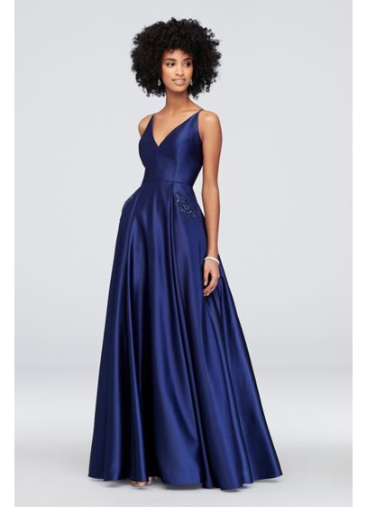 Long Ballgown Spaghetti Strap Cocktail and Party Dress - Blondie Nites
