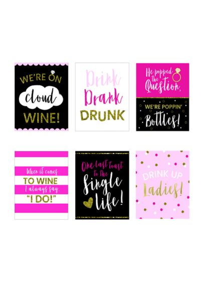 (Bachelorette Party Wine Bottle Label Set)