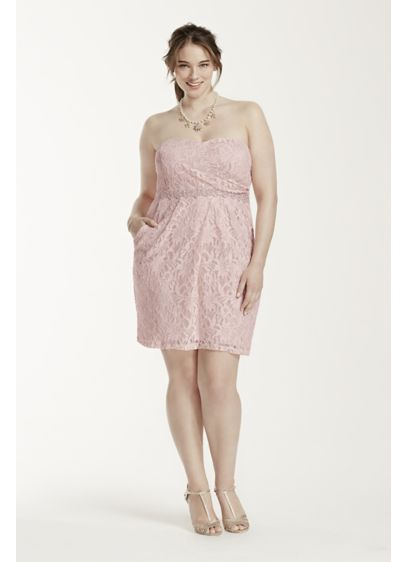 Short Sheath Strapless Cocktail and Party Dress - City Triangles