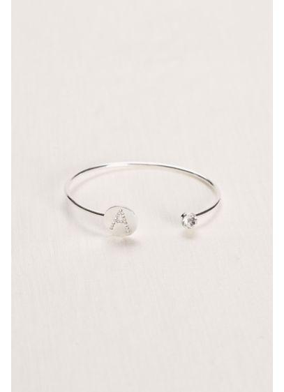 David's Bridal Grey (Monogram Crystal Bangle)