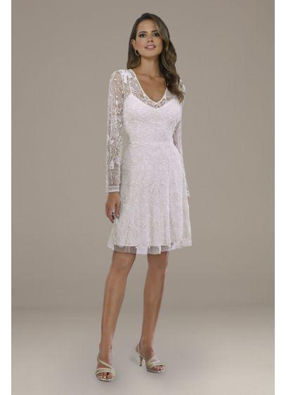 Short A-Line Beach Wedding Dress - Lara