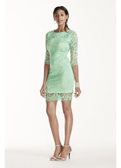 Short Sheath Long Sleeves Cocktail and Party Dress - Julia Jordan