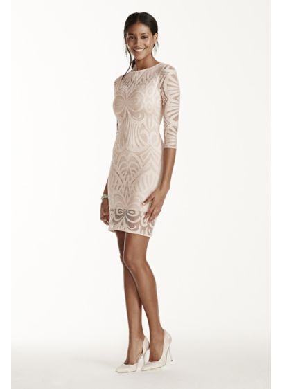 Short Sheath Long Sleeves Cocktail and Party Dress - Julia Jordan