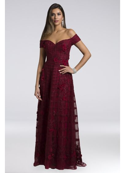 Long A-Line Off the Shoulder Formal Dresses Dress - Lara