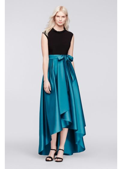High Low Ballgown Cap Sleeves Cocktail and Party Dress -