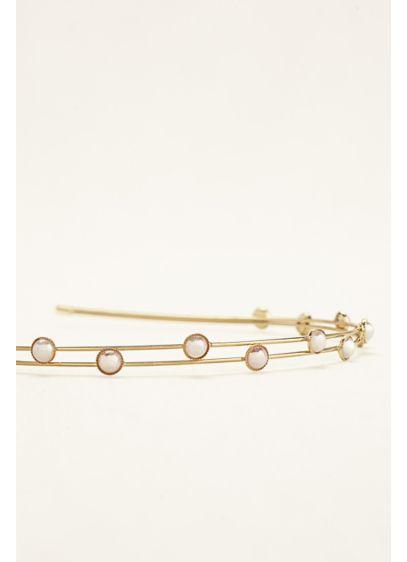 Two Row Station Hard Headband - Wedding Accessories