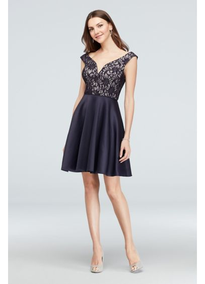 f0046e49576 Short A-Line Off the Shoulder Cocktail and Party Dress - City Triangles