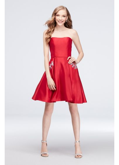 Short Ballgown Strapless Cocktail and Party Dress - Blondie Nites