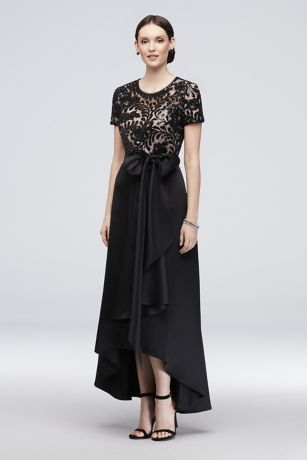 Long Ballgown Short Sleeves Dress - RM Richards
