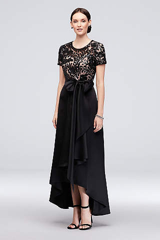 Black Dresses With Sleeves Davids Bridal