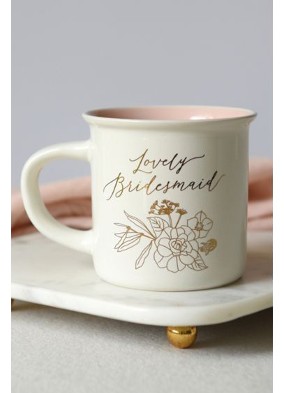 Lovely Bridesmaid Coffee Mug - Show your bridesmaids you care with this beautiful