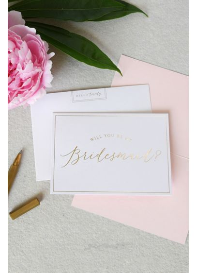 White (Will You Be My Bridesmaid Note Card Set)