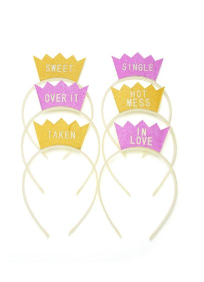 Glitter Bachelorette Party Status Headbands - The perfect prop for your bachelorette party, each