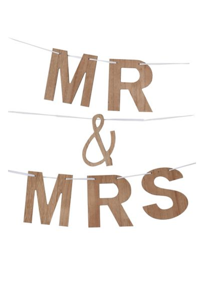 Faux Wood Grain Mr and Mrs Banner - This rustic