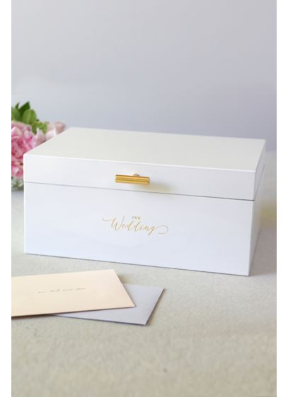 Our Wedding Card Box - Adorned simply with the phrase