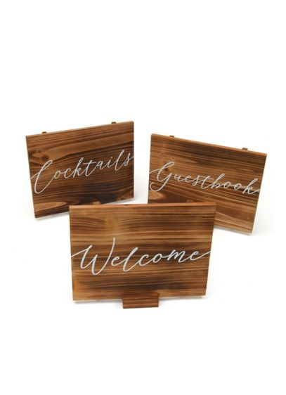 (Wooden Script Sign Set)