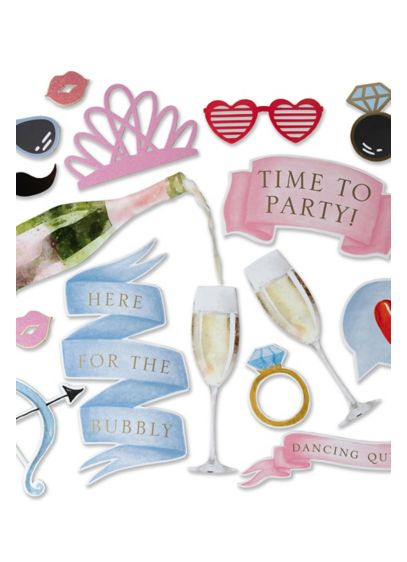 (Wedding Photo Booth Prop Kit)
