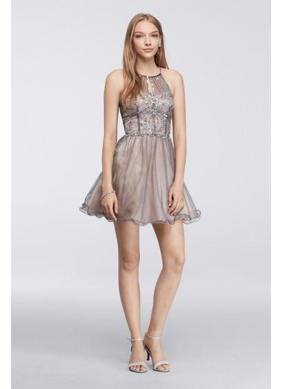 Short Ballgown Halter Daytime Dress - Masquerade
