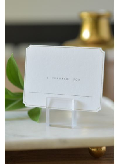 Clear Place Card Holder - Use these clear place card holders to display
