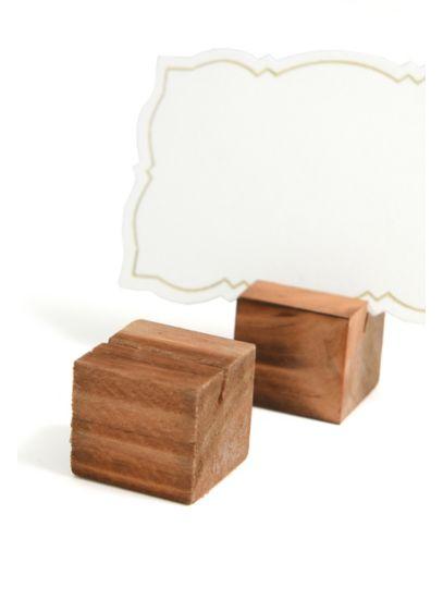 (Wooden Place Card Holder Set)