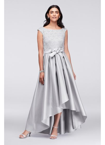 High Low Ballgown Cap Sleeves Cocktail and Party Dress - Ignite