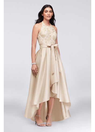 High Low Ballgown Halter Cocktail and Party Dress - Ignite