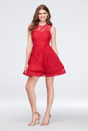 Cocktail Dress with Tiered Skirt