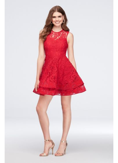 Short Ballgown Cap Sleeves Cocktail and Party Dress - City Triangles