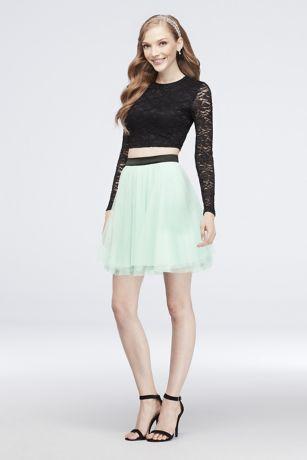 Short Ballgown Long Sleeves Dress - Choon