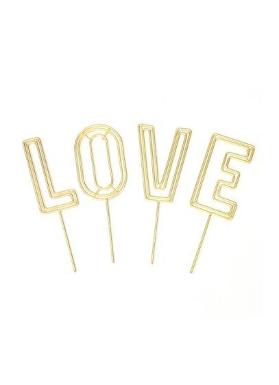 (Love Wire Cake Topper Set)