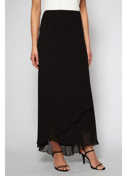 Long Chiffon Tulip Hem Skirt - This long chiffon skirt gets graceful detailing from