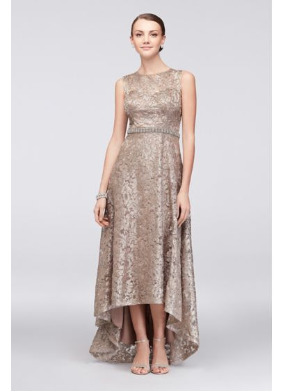 High Low Beige Soft & Flowy Ignite Bridesmaid Dress