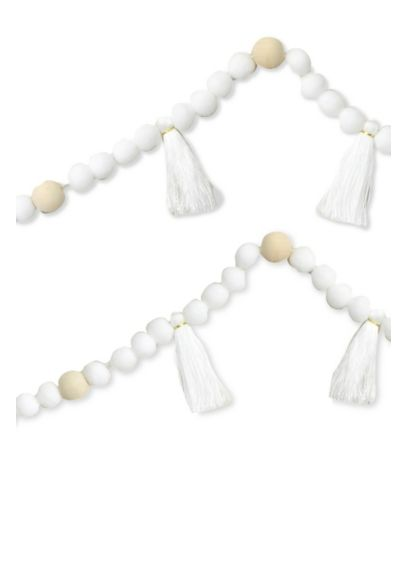 Bead and Tassel Garland - Crafted of beads and tassels, this garland is