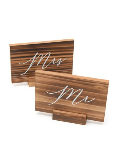 (Wood Mr and Mrs Signs)