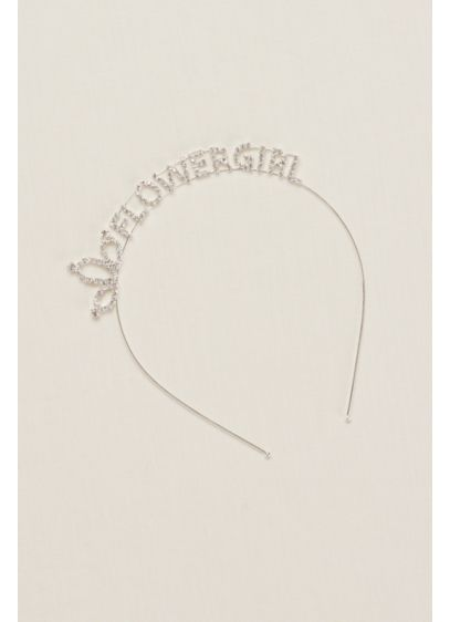 David's Bridal Grey (Flower Girl Scripted Headband)