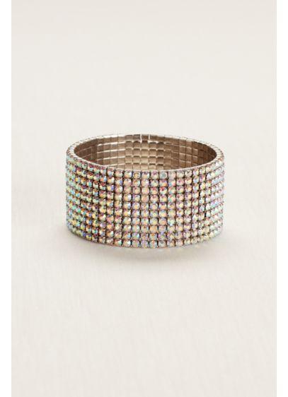 Iridescent Rhinestone Stretch Bracelet 383822 Dress David S Bridal