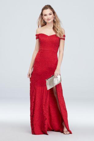 Long Sheath Off the Shoulder Dress - Choon