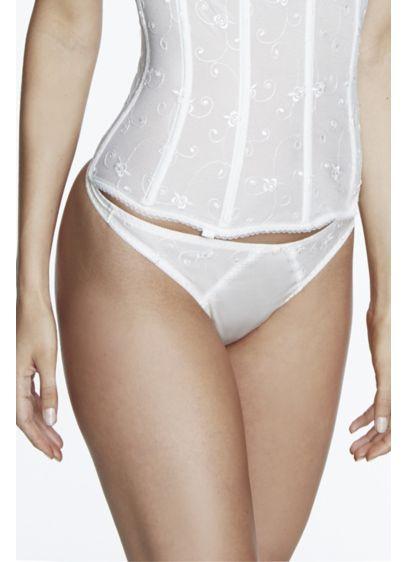Dominique Ivory (Dominique Embroidered Lace Thong)