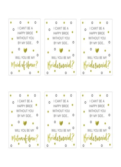 Bridal Party Proposal Foil Wine Bottle Label Set - Wedding Gifts & Decorations