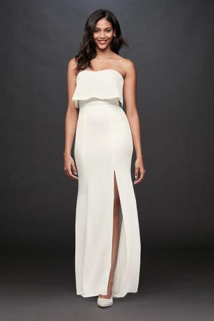 Long Sheath Strapless Dress - DB Studio