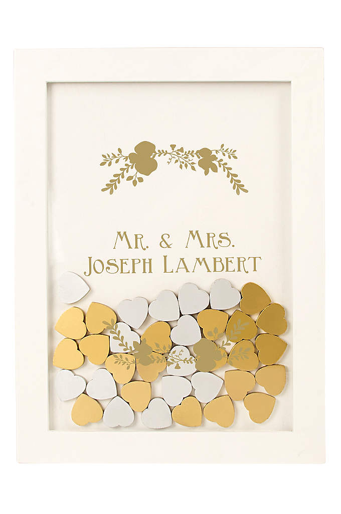 Personalized Floral Heart Drop Guest Book - Capture loving wishes from your guests with this