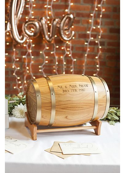 Personalized Reception Card Wine Barrel - This Personalized Reception Card Wine Barrel is a