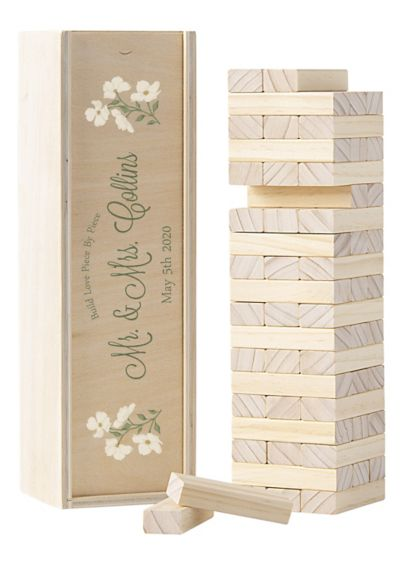Personalized Floral Building Block Guestbook - Wedding Gifts & Decorations