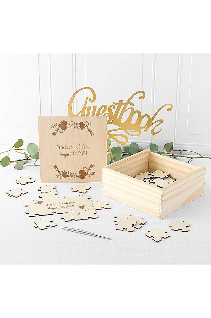 Personalized Wooden Guest Book Puzzle - A unique way to welcome guests as they