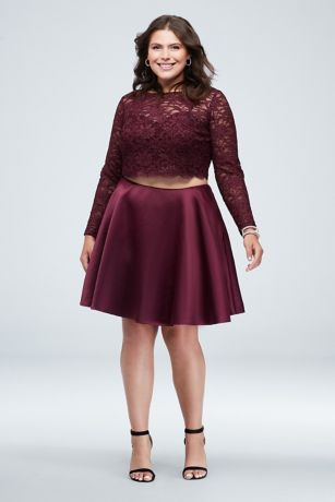 Short A-Line Long Sleeves Dress - City Triangles