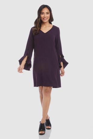 Short A-Line 3/4 Sleeves Dress - Karen Kane