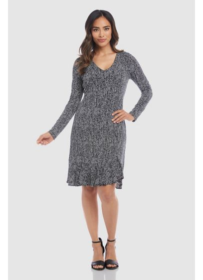 Short A-Line Long Sleeves Cocktail and Party Dress - Karen Kane