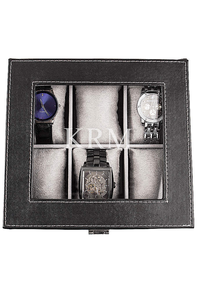 Personalized Leatherette Watch Box - Store your favorite watches in this handsome Personalized