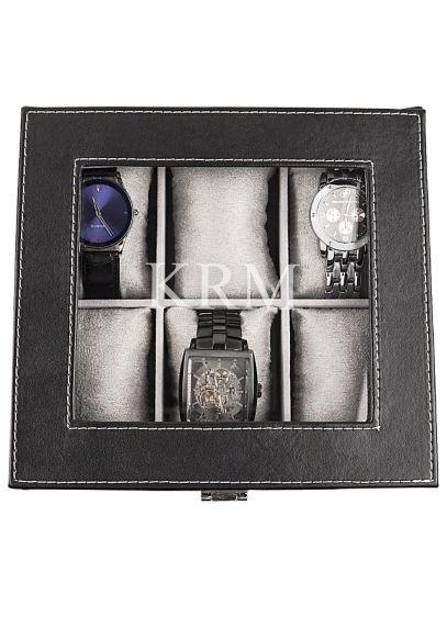 Personalized Leatherette Watch Box - Wedding Gifts & Decorations